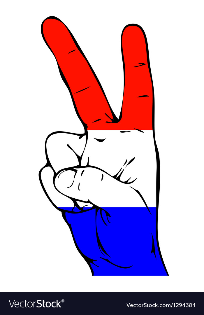 Peace sign of the dutch flag vector | Price: 1 Credit (USD $1)