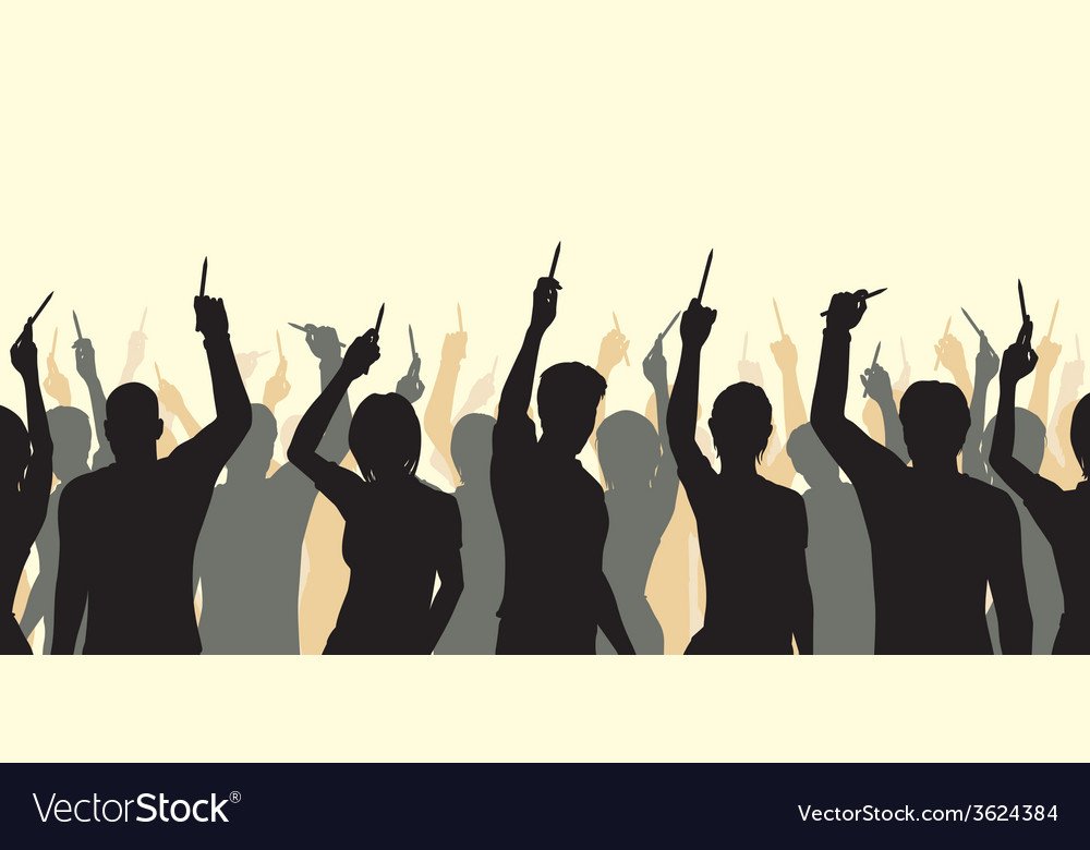 Pencil solidarity crowd vector | Price: 1 Credit (USD $1)