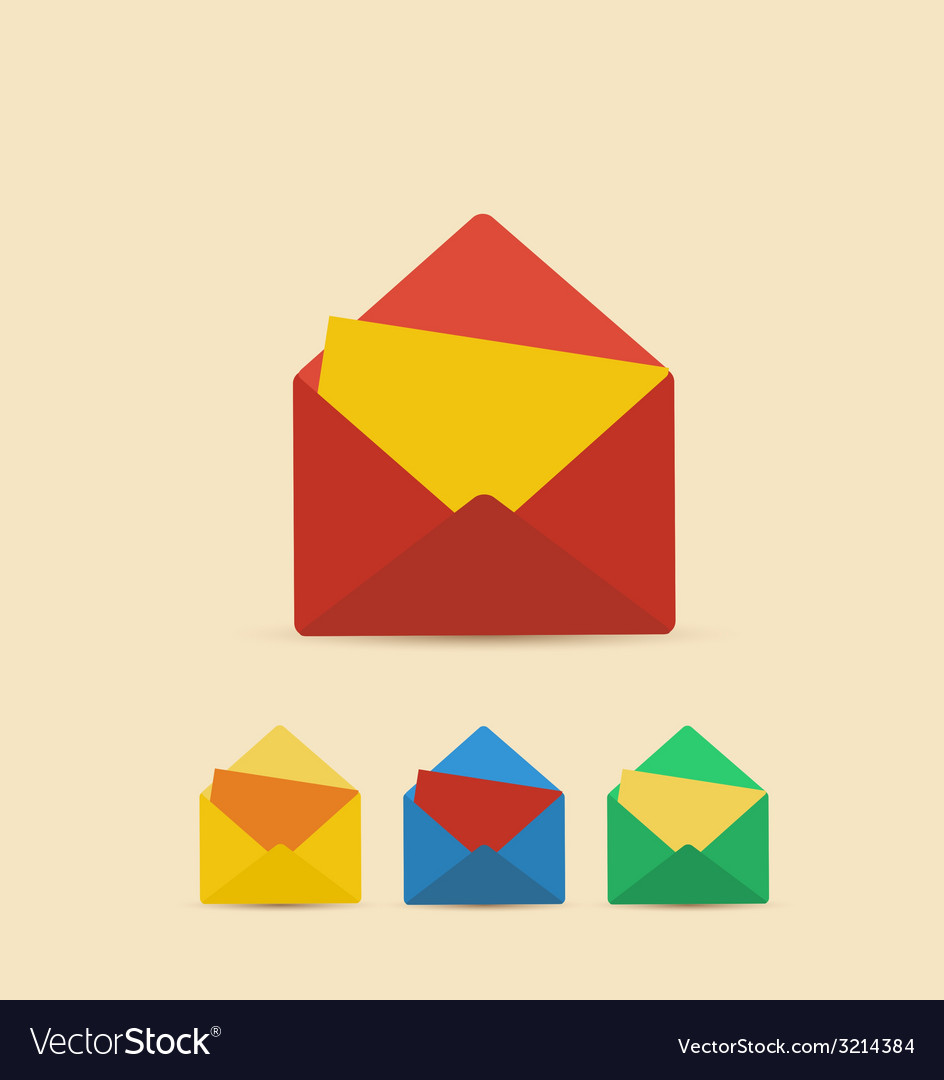 Retro envelope vector | Price: 1 Credit (USD $1)