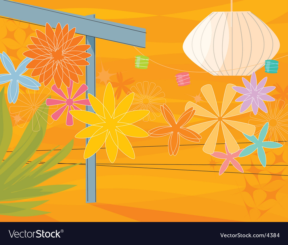 Retro garden party vector | Price: 3 Credit (USD $3)