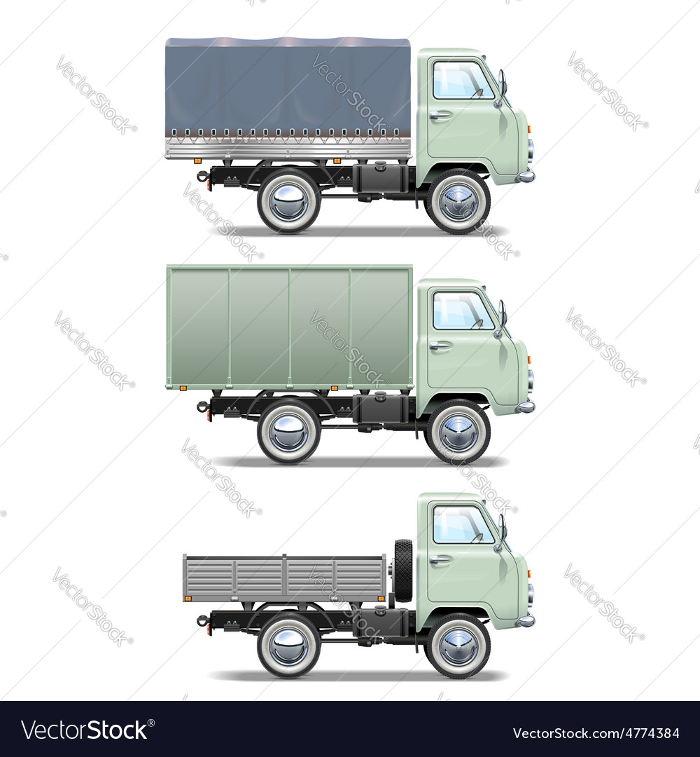 Retro light truck vector | Price: 5 Credit (USD $5)