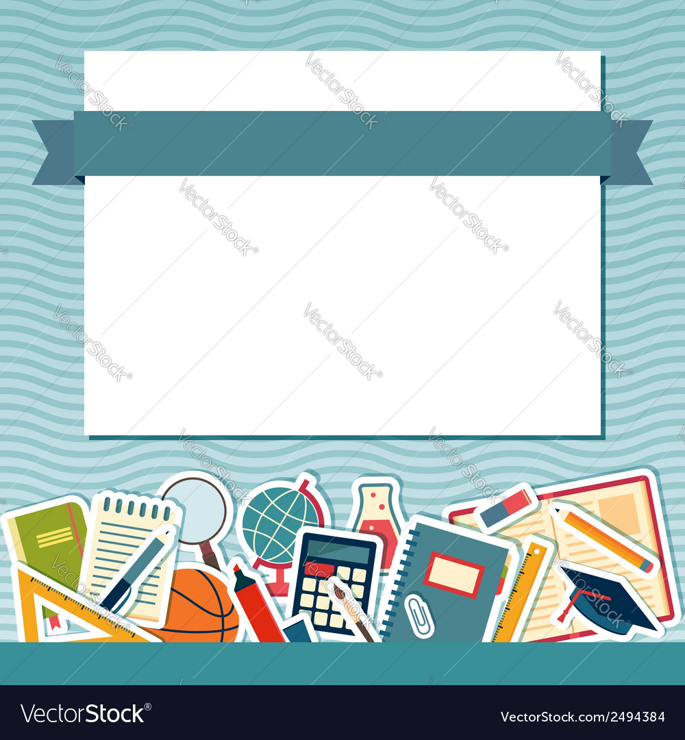 School background with place for text vector | Price: 1 Credit (USD $1)