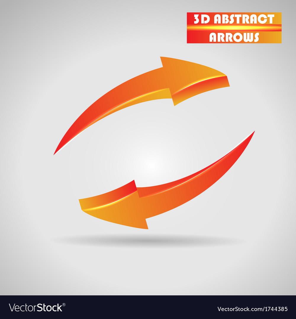 Abstract orange arrows 3d vector | Price: 1 Credit (USD $1)