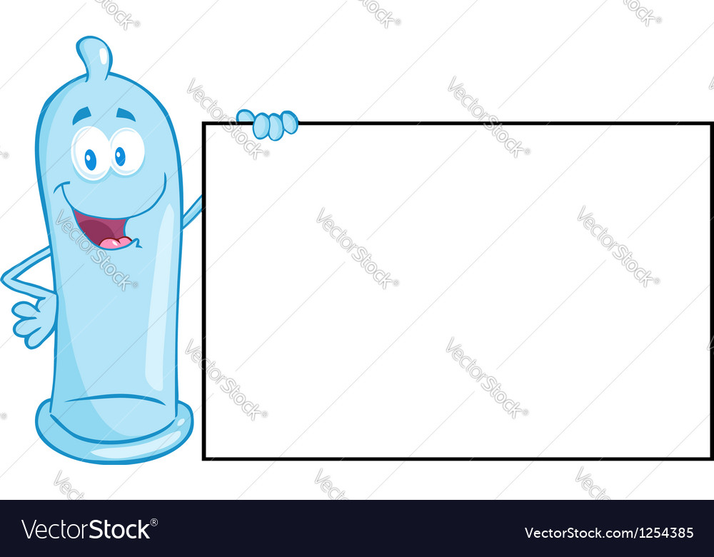 Condom cartoon mascot character vector | Price: 1 Credit (USD $1)
