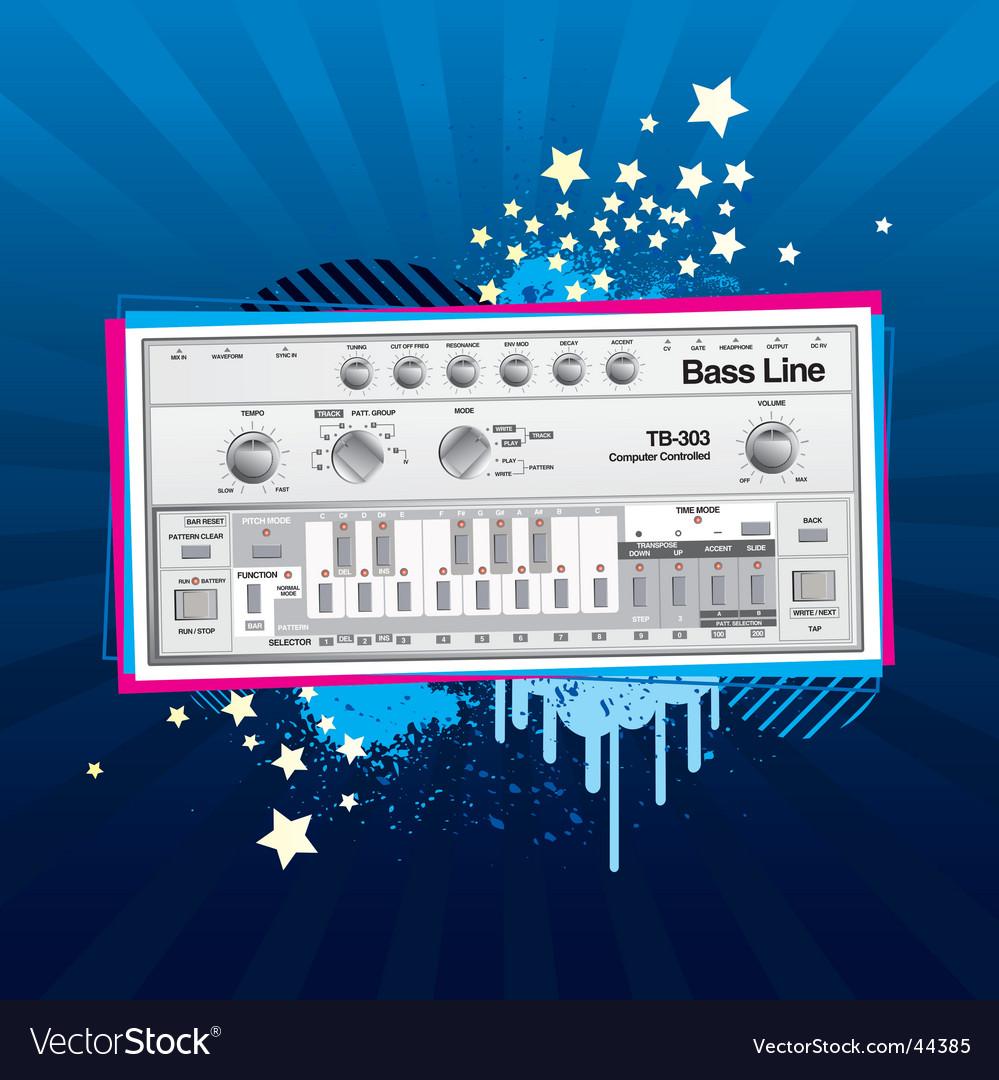 Disco baseline vector | Price: 1 Credit (USD $1)