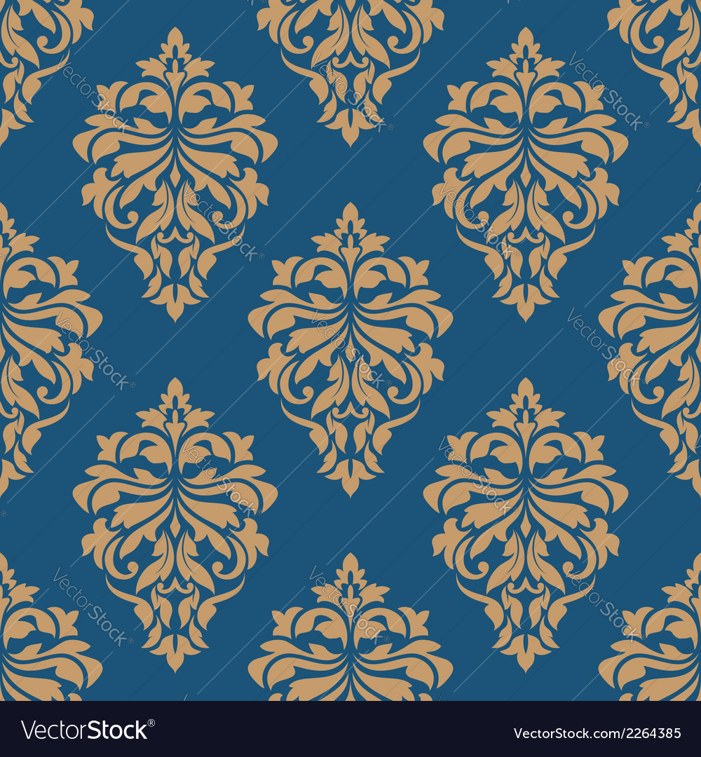 Elegance floral damask seamless pattern vector | Price: 1 Credit (USD $1)