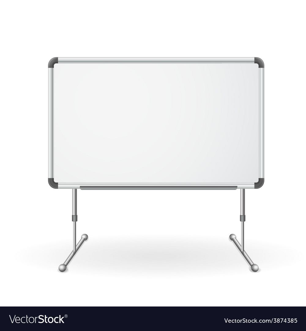 Empty whiteboard vector | Price: 1 Credit (USD $1)