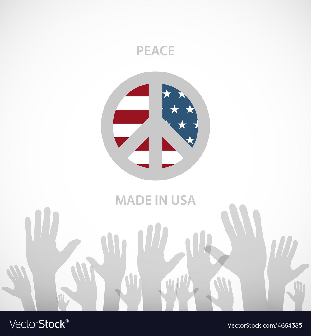 Heart shaped american flag eps10 vector | Price: 1 Credit (USD $1)