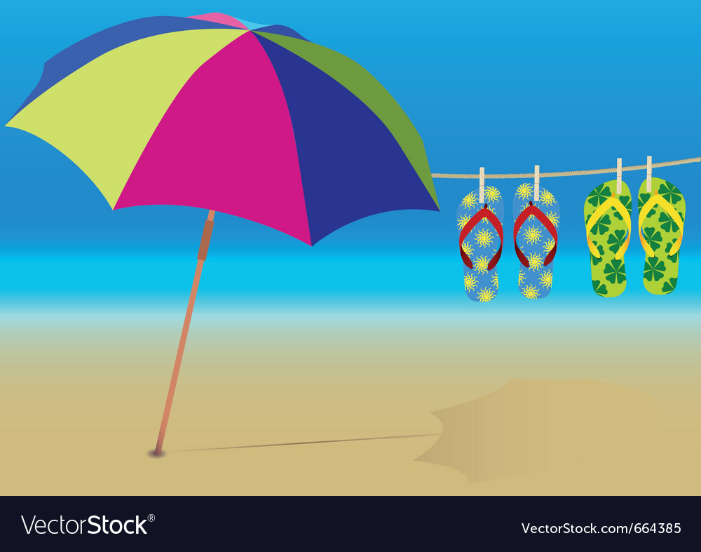 Holiday beach vector | Price: 1 Credit (USD $1)