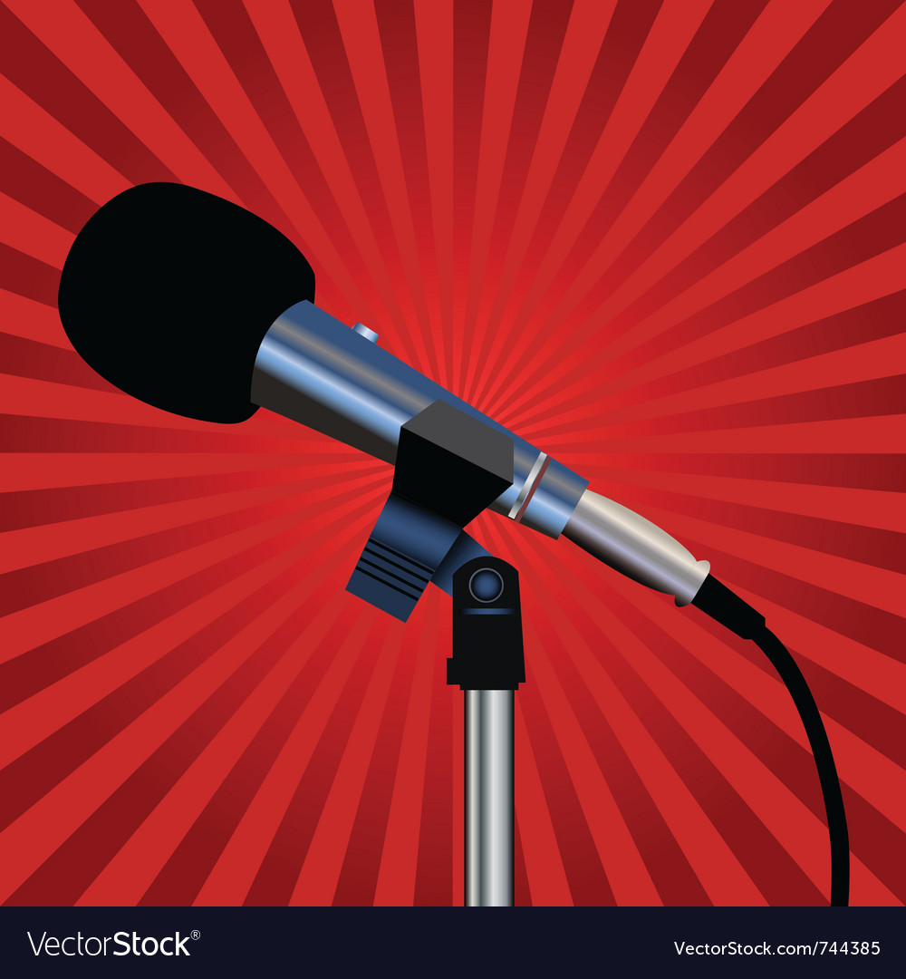 Microphone cord vector | Price: 1 Credit (USD $1)