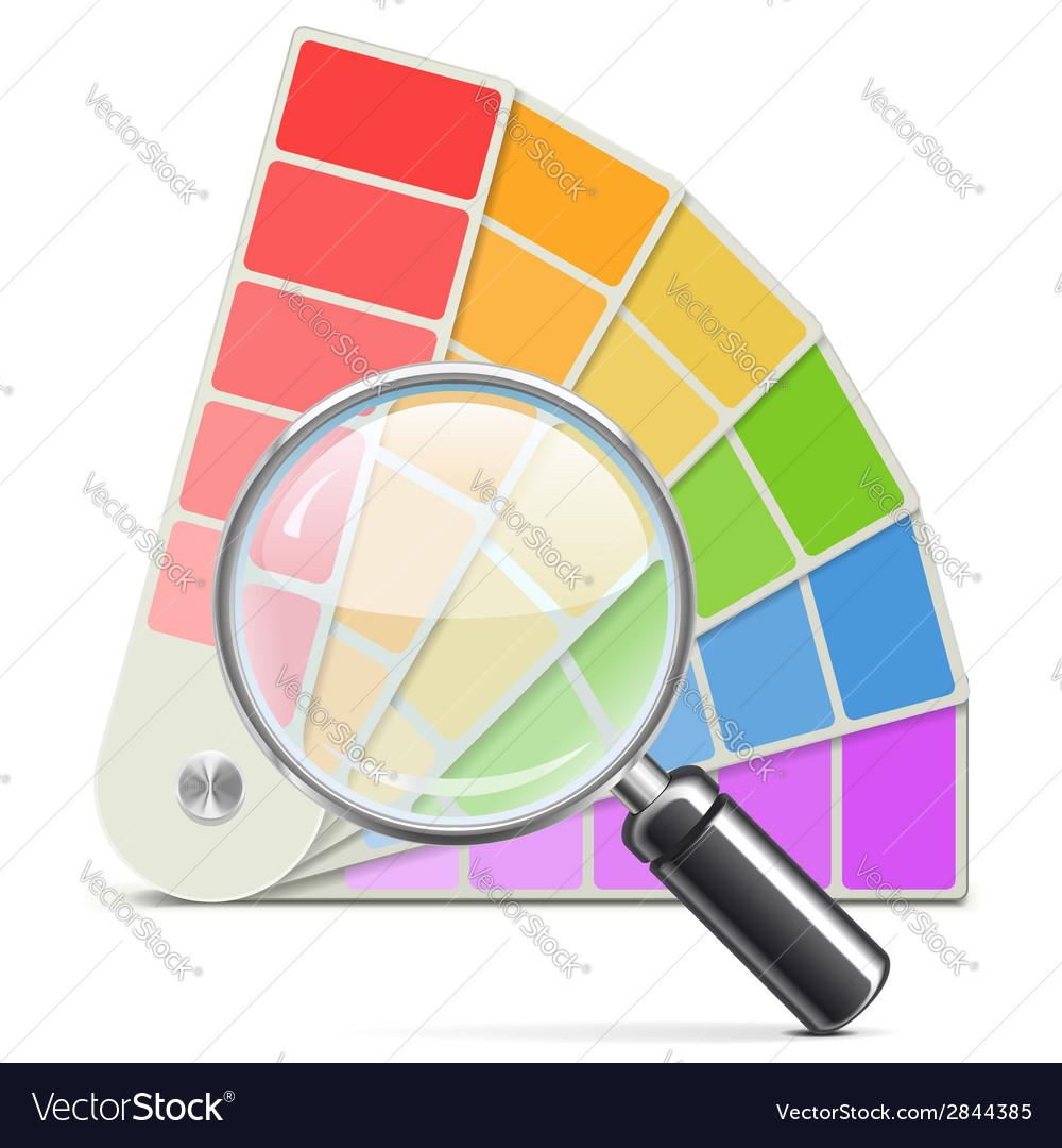 Palette with loupe vector | Price: 1 Credit (USD $1)