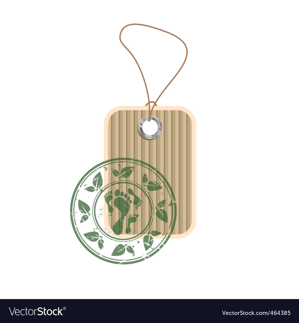 Paper tag with stamp vector | Price: 1 Credit (USD $1)