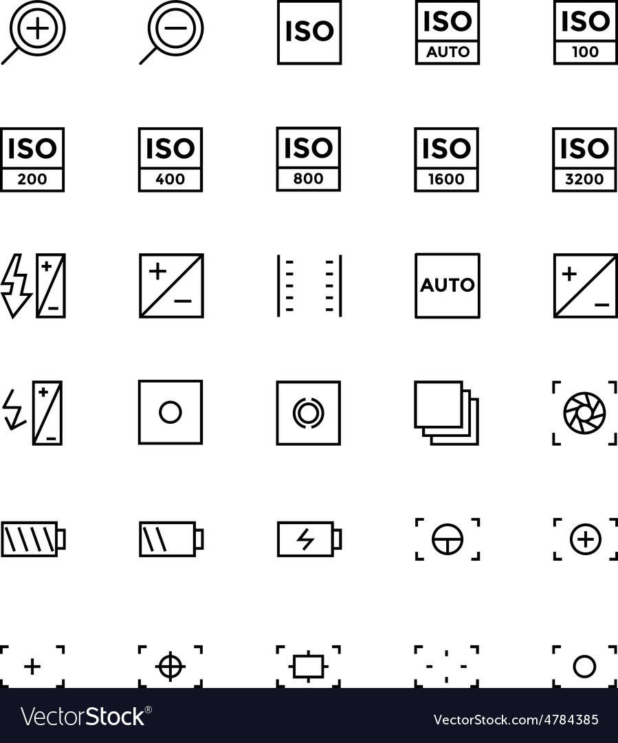 Photography line icons 3 vector | Price: 1 Credit (USD $1)