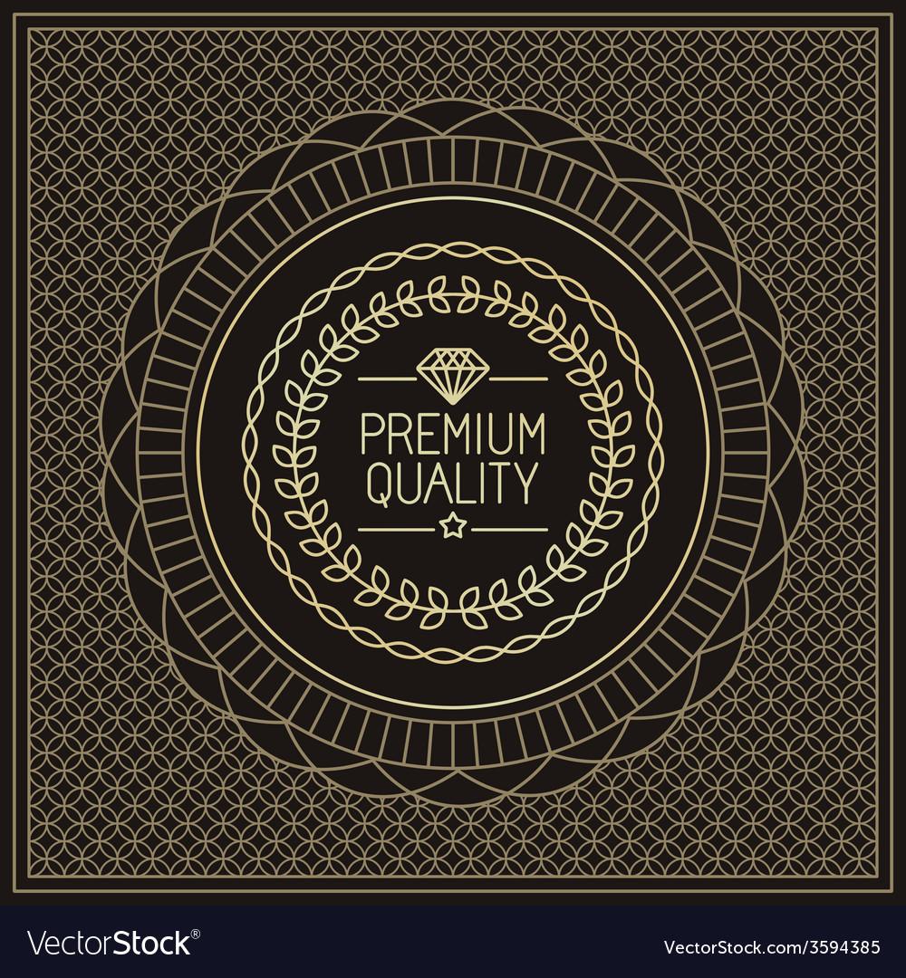 Premium quality badge vector | Price: 1 Credit (USD $1)