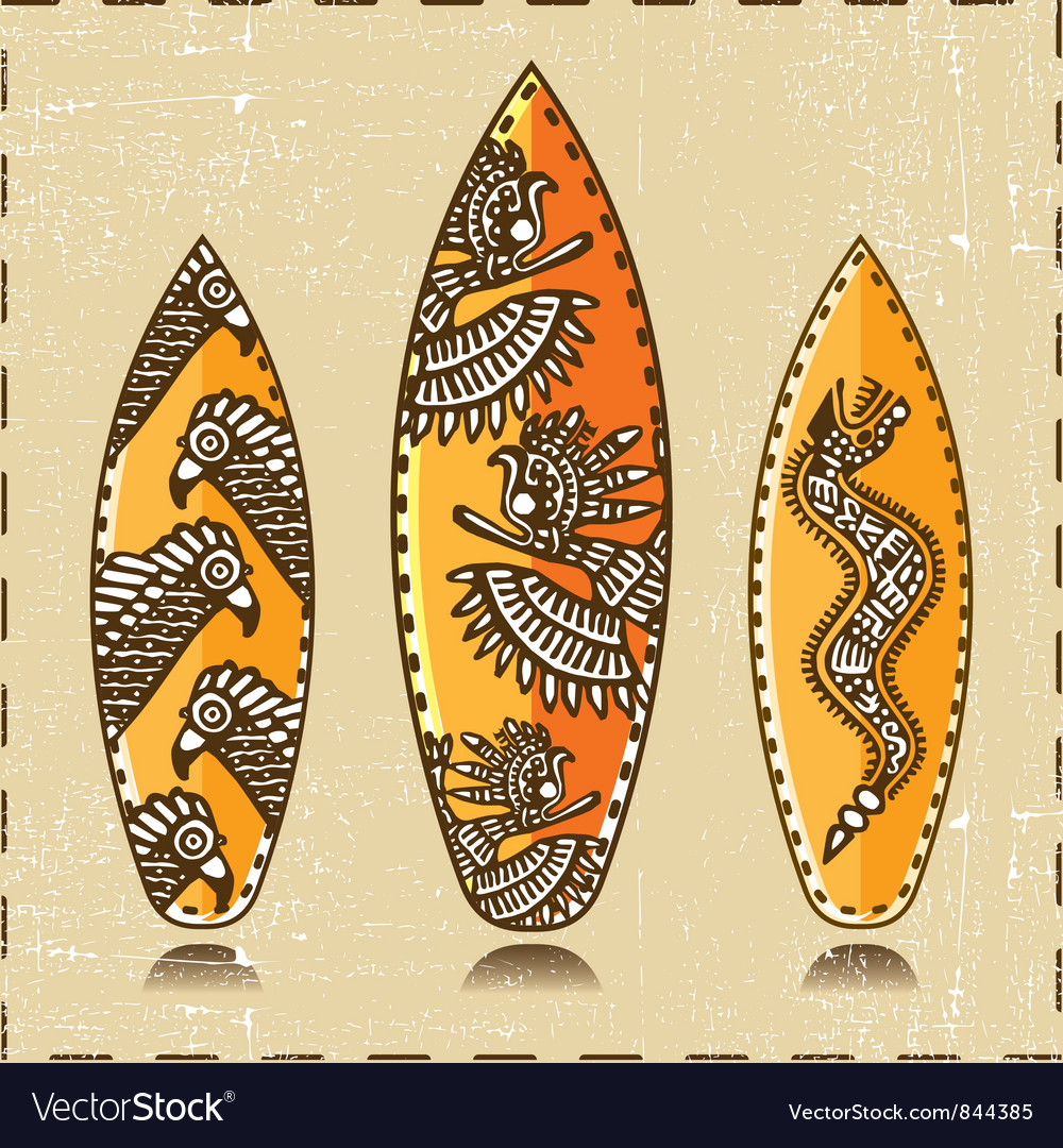 Three surfing board vector | Price: 1 Credit (USD $1)