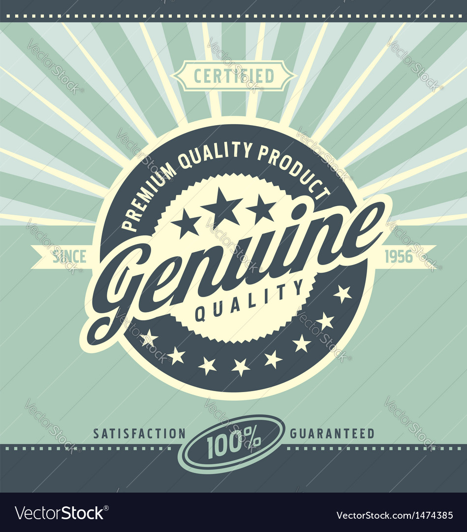 Vintage promotional poster for premium quality pro vector | Price: 1 Credit (USD $1)
