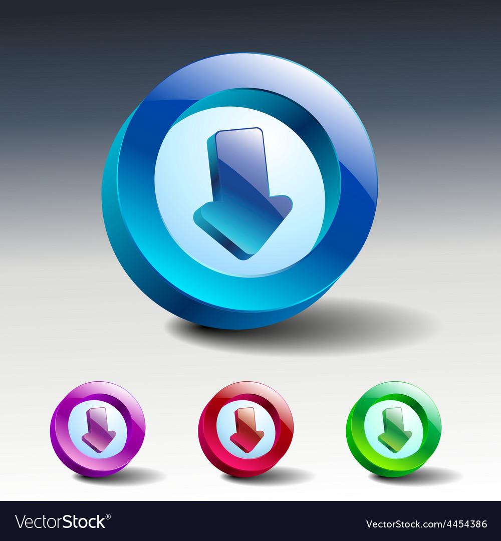 Arrow sign icon simple internet button vector | Price: 1 Credit (USD $1)