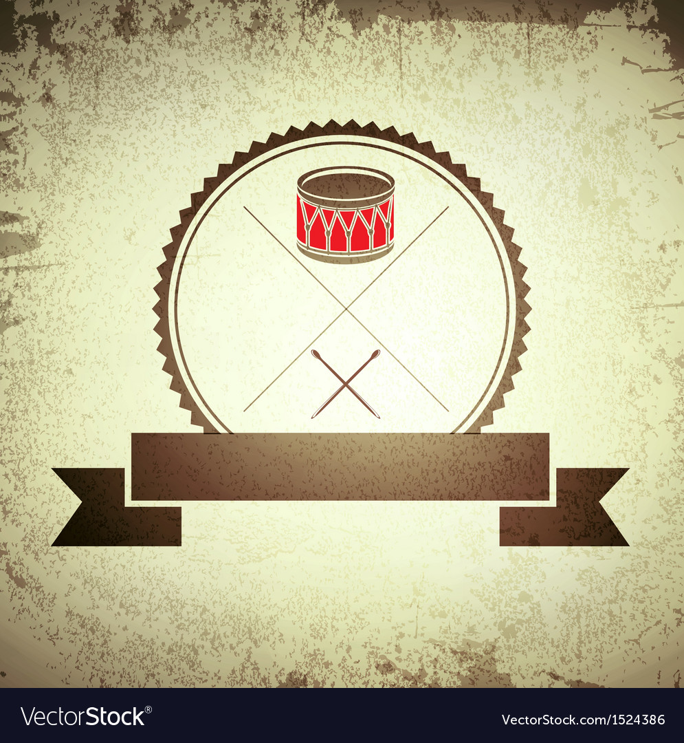 Drum emblem vector | Price: 1 Credit (USD $1)