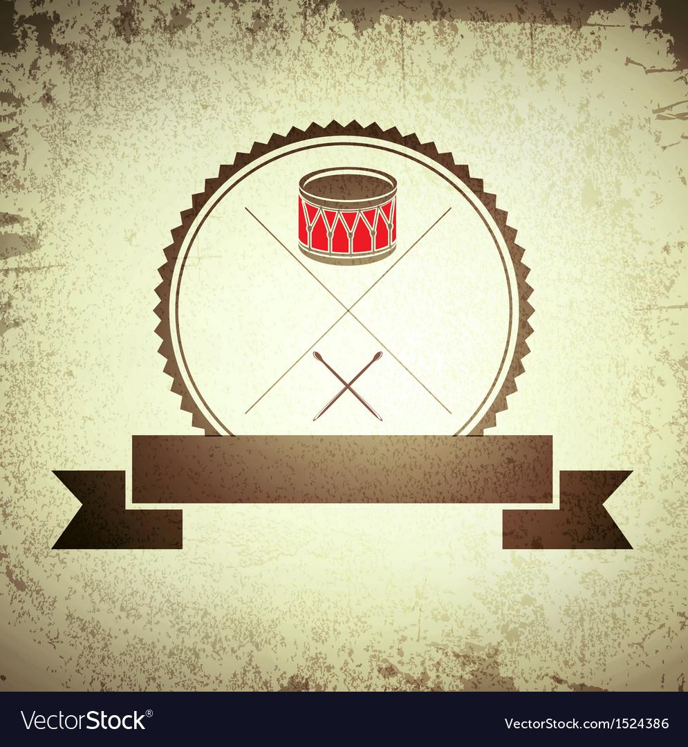 Drum emblem vector | Price: 1 Credit (USD $1)