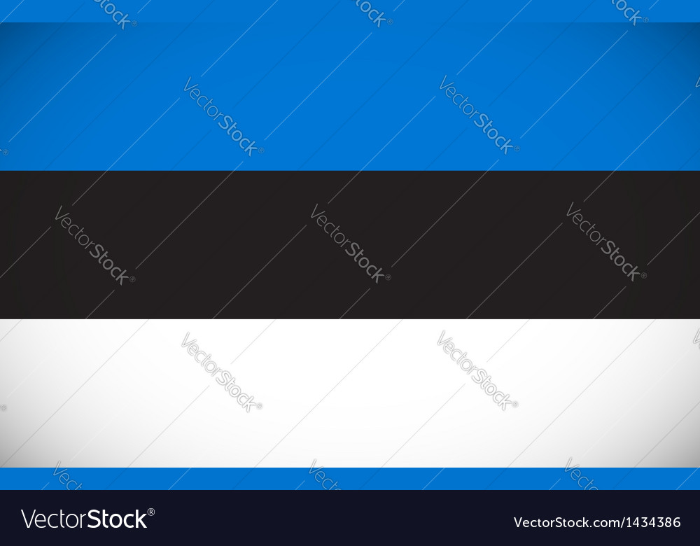National flag of estonia vector | Price: 1 Credit (USD $1)