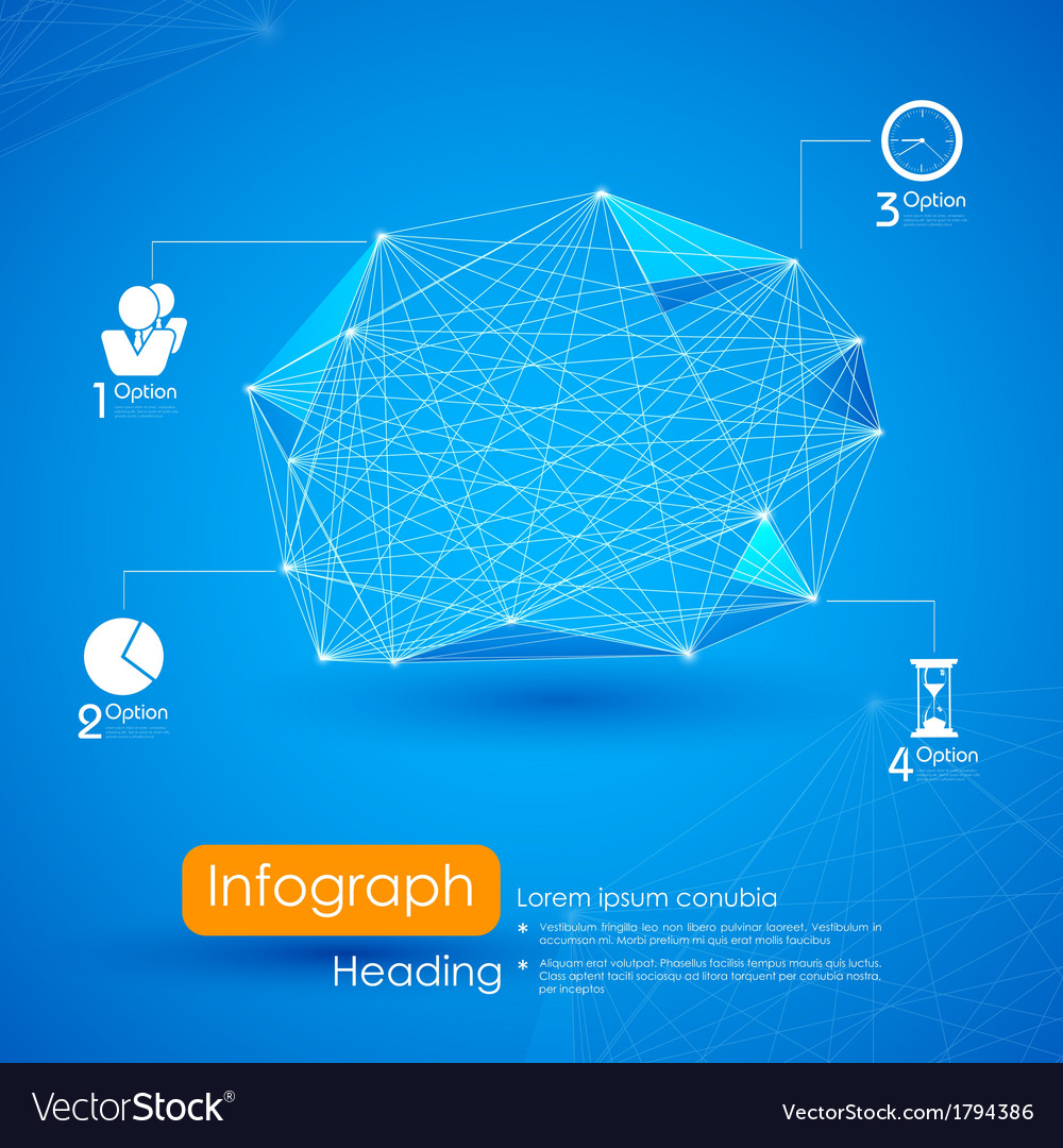 Networking infographic background vector | Price: 1 Credit (USD $1)