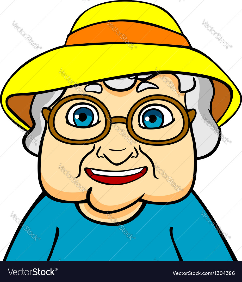 Old grandmother vector | Price: 3 Credit (USD $3)