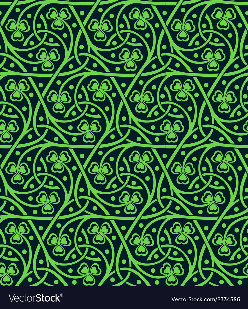 Seamless pattern with shamrock vector | Price: 1 Credit (USD $1)