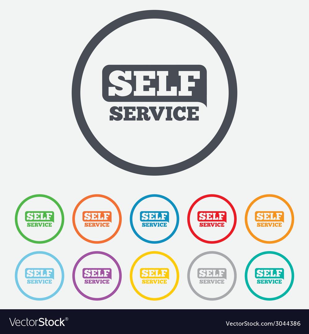 Self service sign icon maintenance button vector   Price: 1 Credit (USD $1)