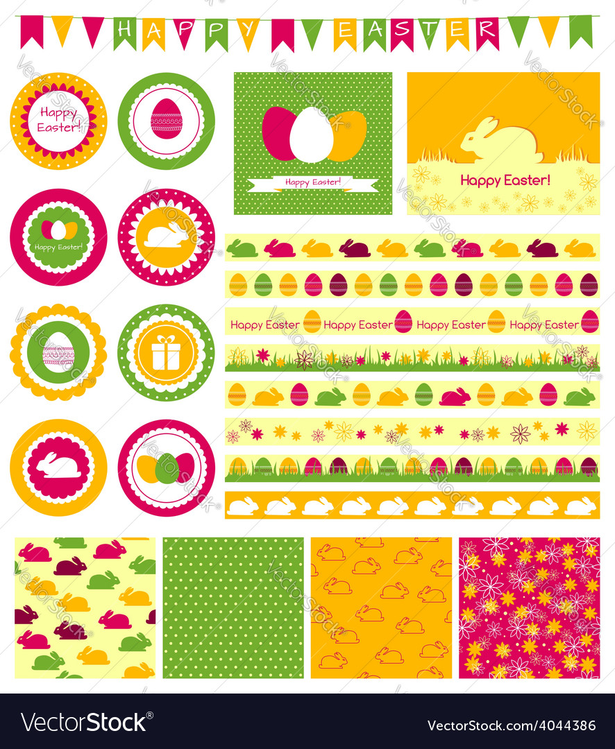 Set of design elements for easter vector | Price: 1 Credit (USD $1)