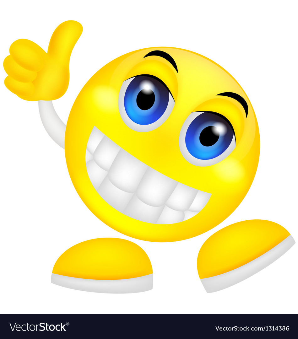 Smiley emoticon with thumb up vector | Price: 1 Credit (USD $1)