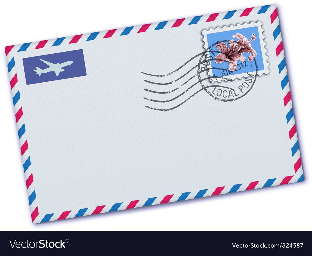 Airmail envelop vector | Price: 3 Credit (USD $3)