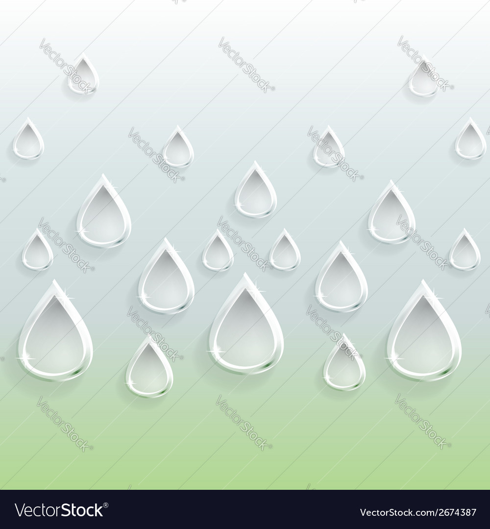 Background of glass carved drops vector   Price: 1 Credit (USD $1)