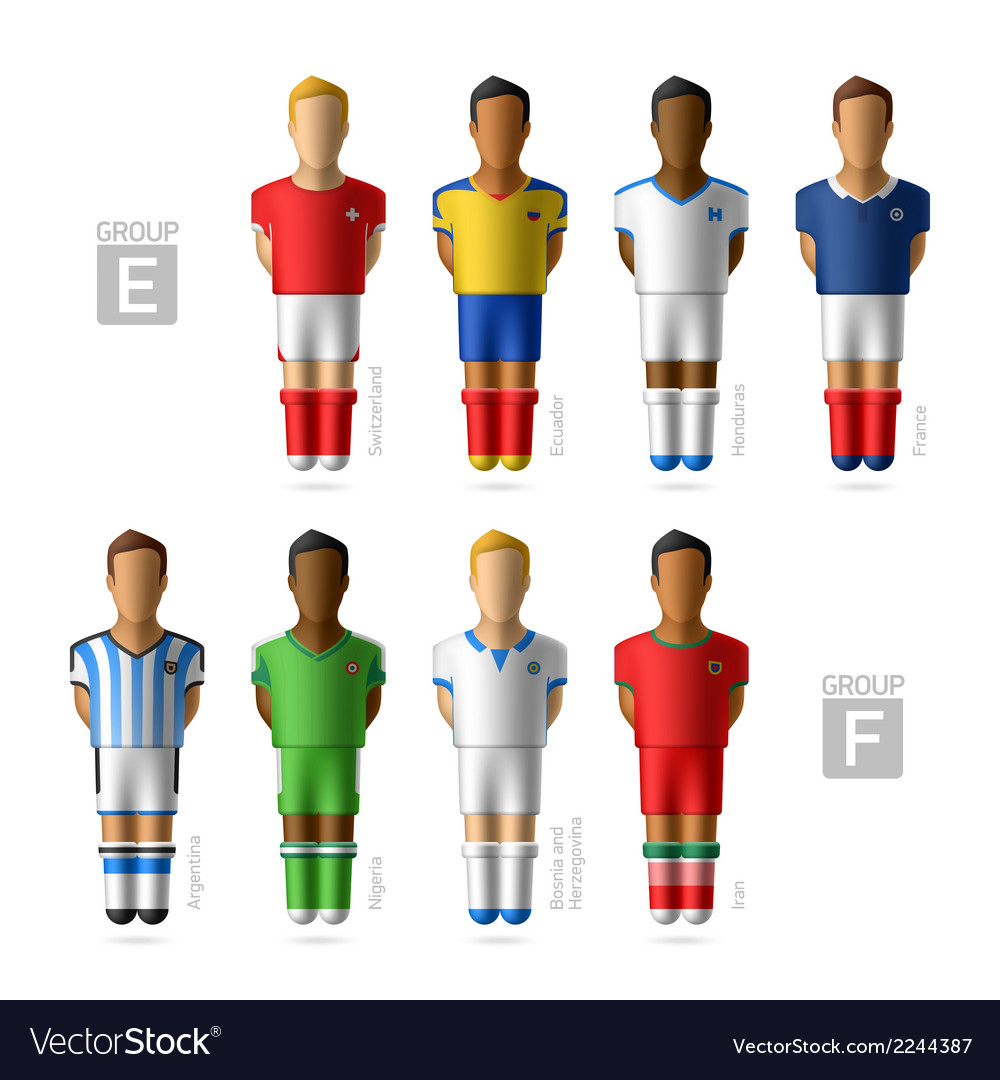 Footballers soccer players brazil 2014 vector | Price: 1 Credit (USD $1)