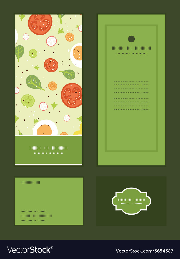 Fresh salad vertical frame pattern invitation vector   Price: 1 Credit (USD $1)