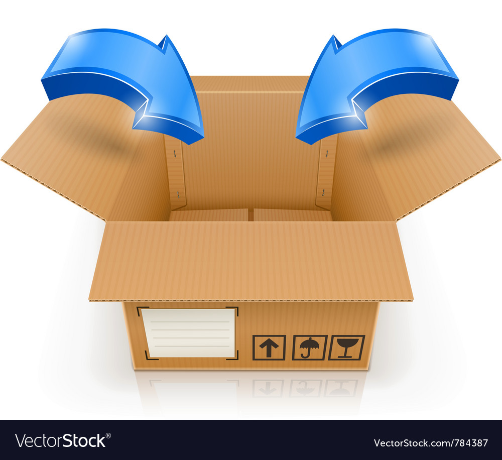 Opened box with arrow inside vector | Price: 3 Credit (USD $3)