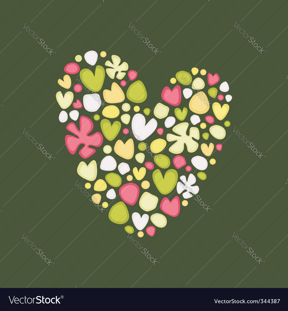 Postcard with heart vector | Price: 1 Credit (USD $1)