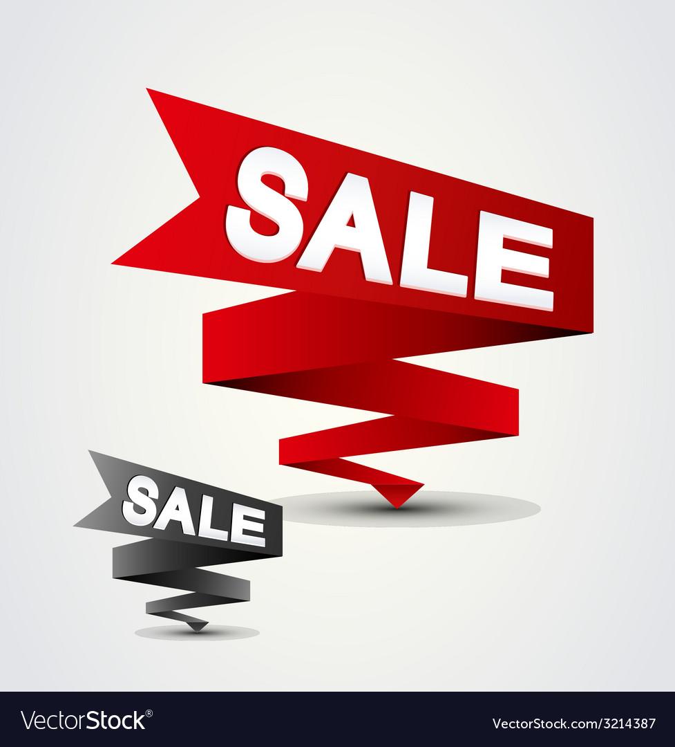 Ribbon sale vector | Price: 1 Credit (USD $1)