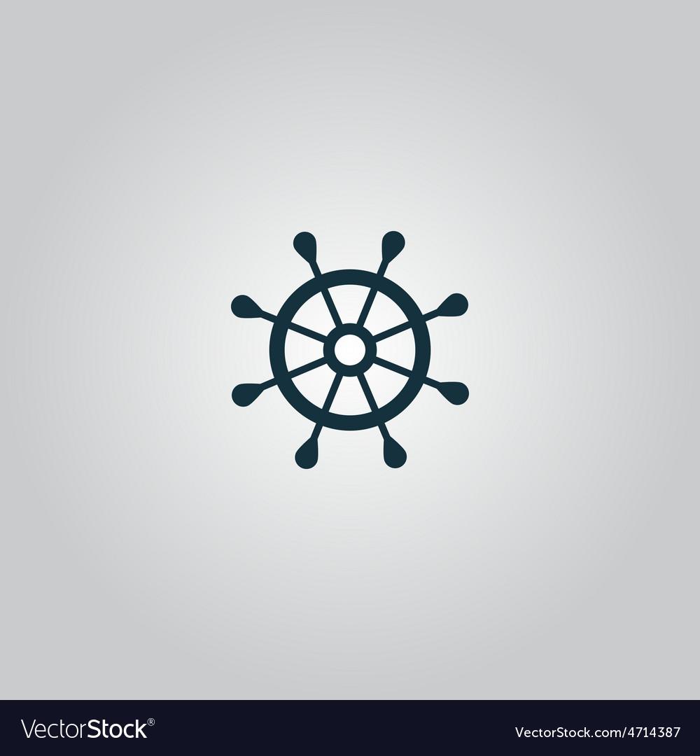Rudder web flat icon vector   Price: 1 Credit (USD $1)