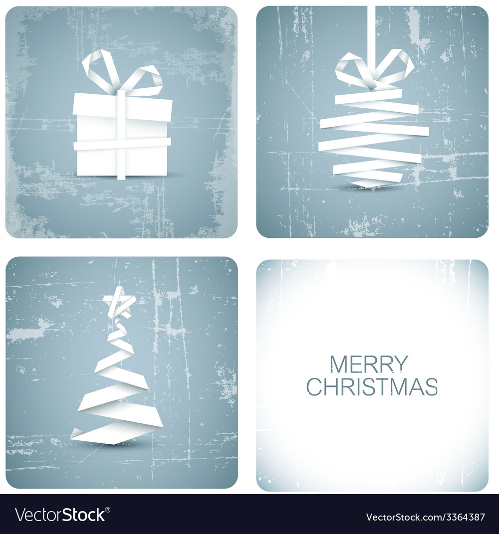 Simple grunge christmas card vector | Price: 1 Credit (USD $1)