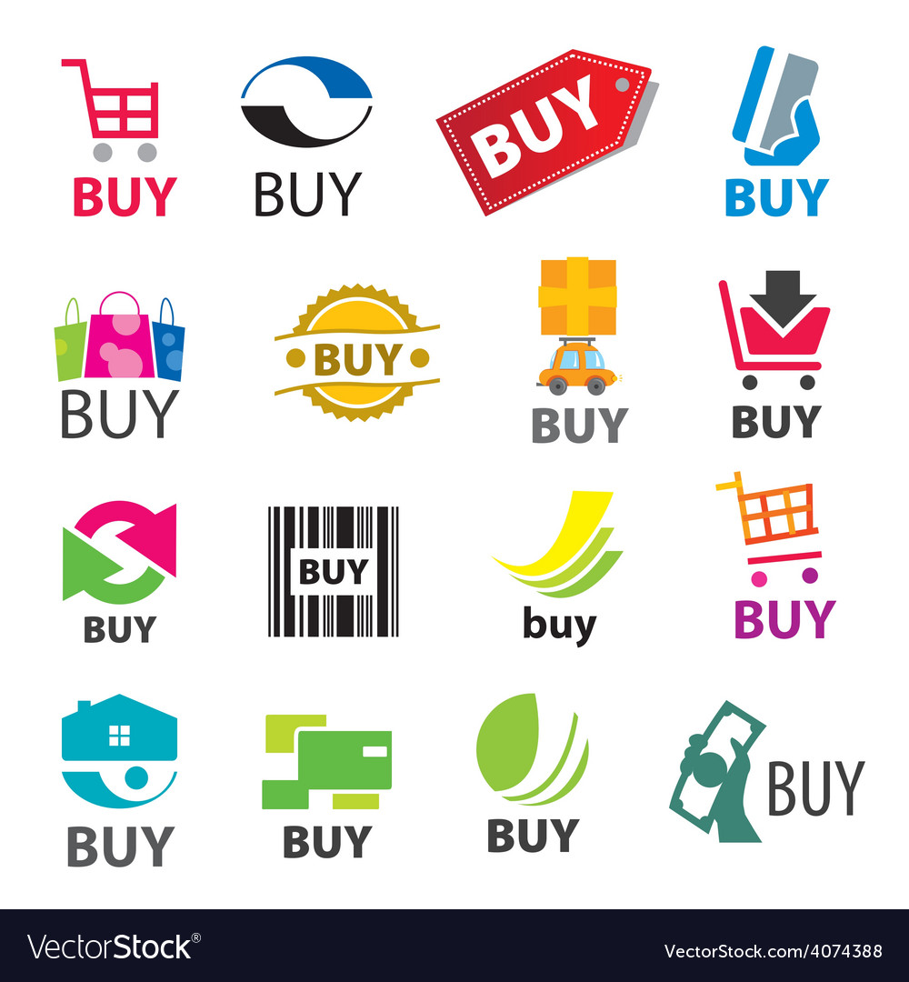Big set of logos buy vector | Price: 1 Credit (USD $1)
