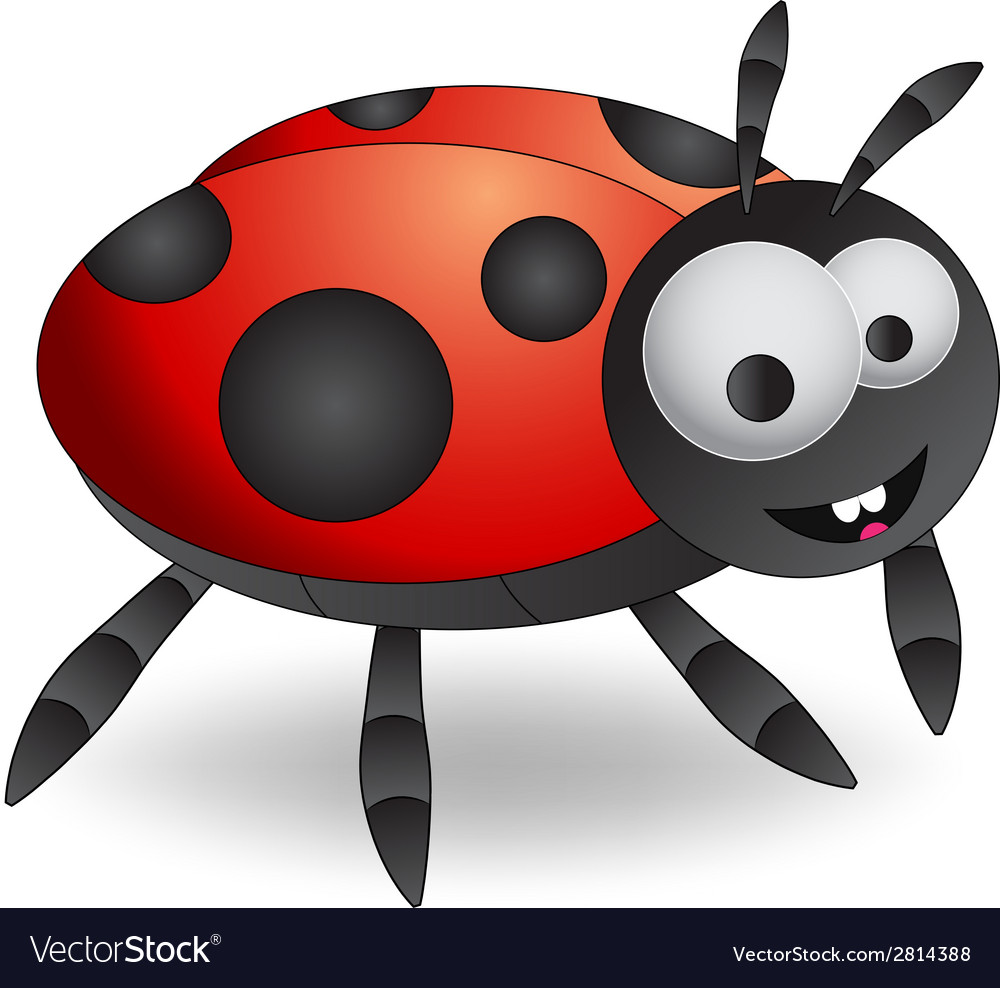 Cartoon ladybug vector | Price: 1 Credit (USD $1)