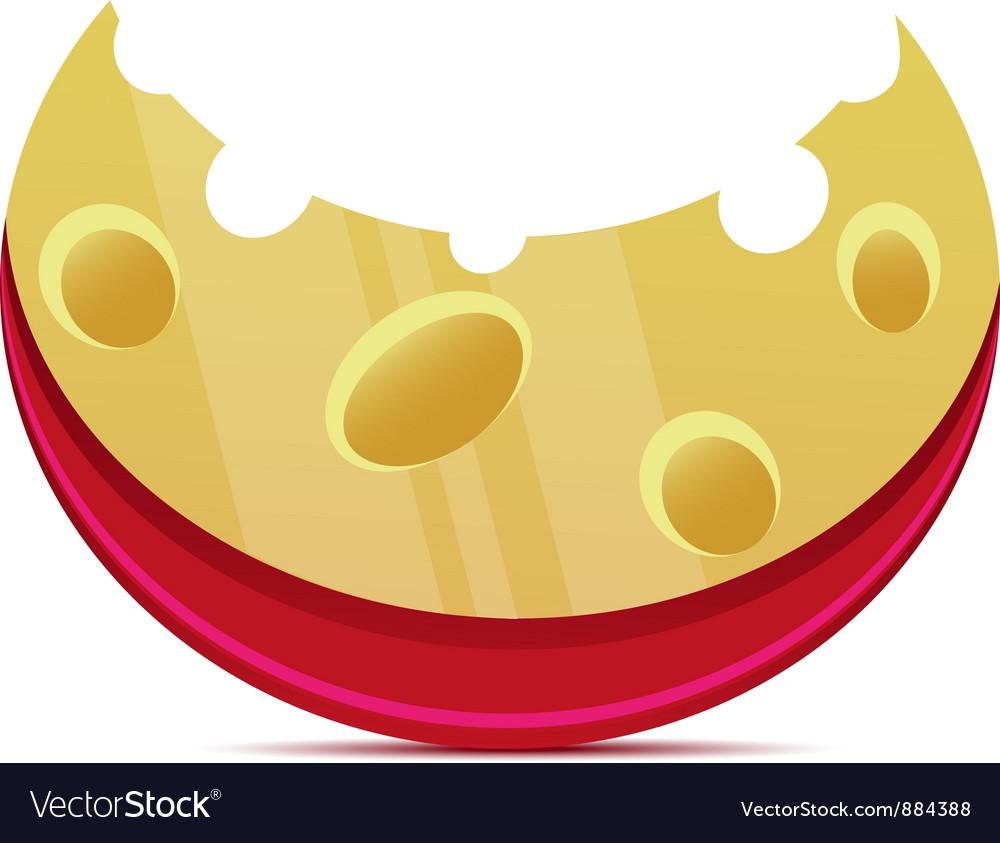 Cheese slice vector | Price: 3 Credit (USD $3)