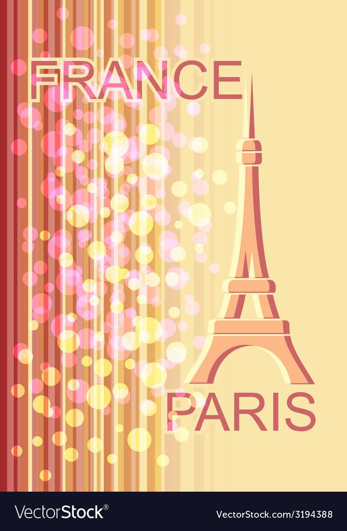 France paris vector | Price: 1 Credit (USD $1)