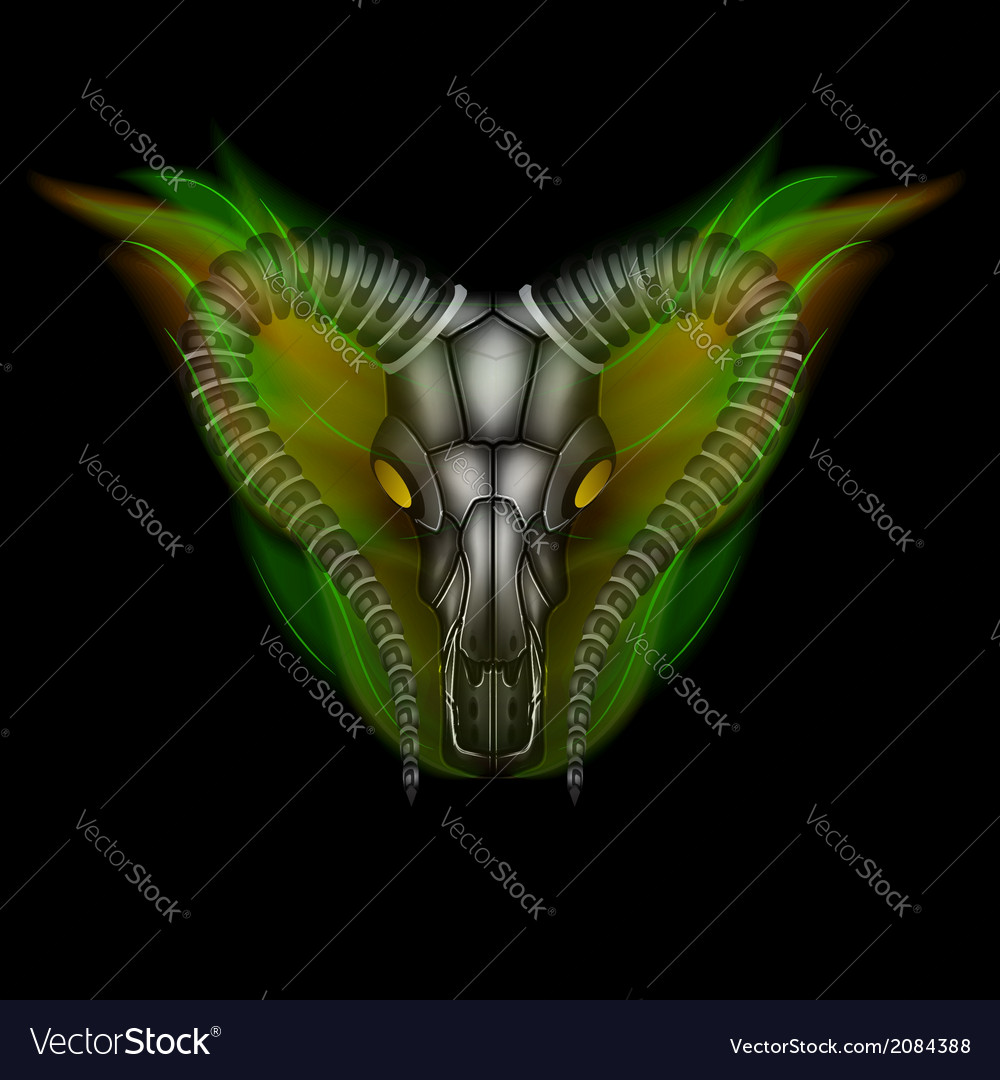 Goat head in fire vector | Price: 1 Credit (USD $1)