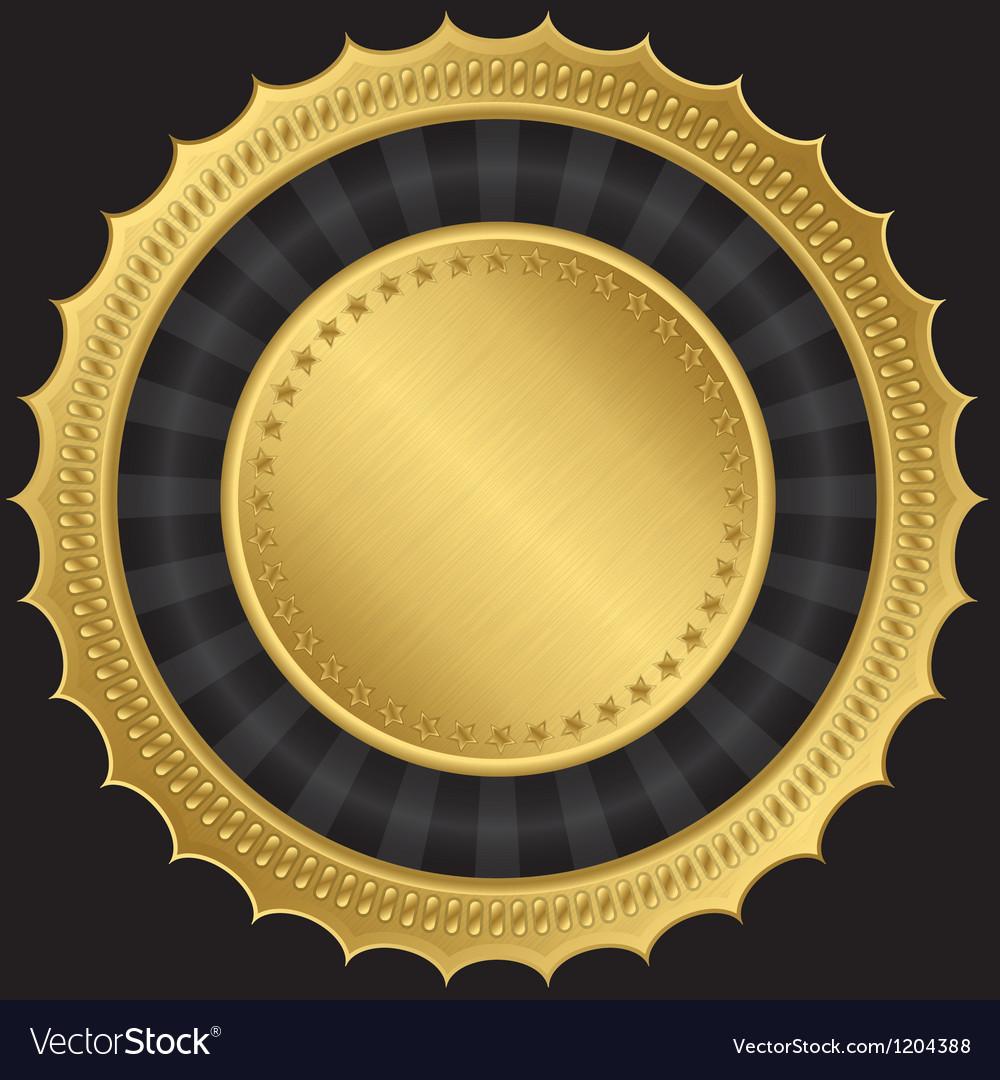 Golden blank label vector | Price: 1 Credit (USD $1)