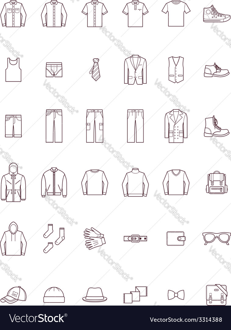 Men clothes set vector | Price: 1 Credit (USD $1)