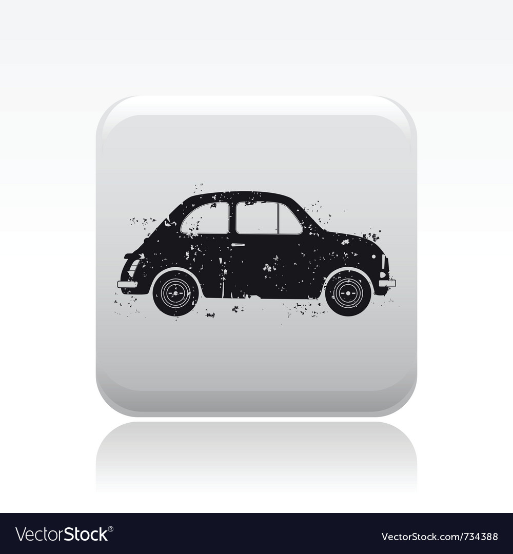 Old car icon vector | Price: 1 Credit (USD $1)