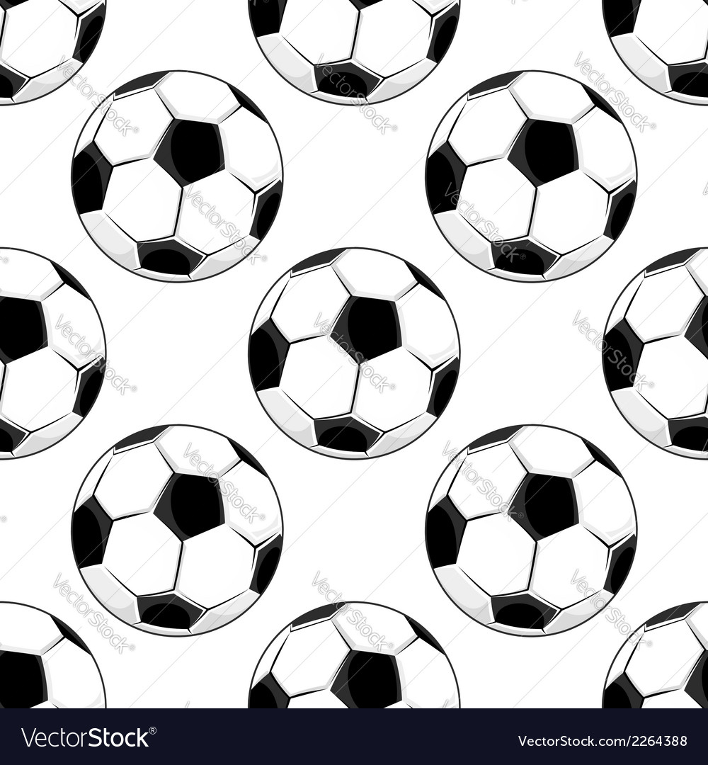 Seamless pattern of soccer balls vector | Price: 1 Credit (USD $1)