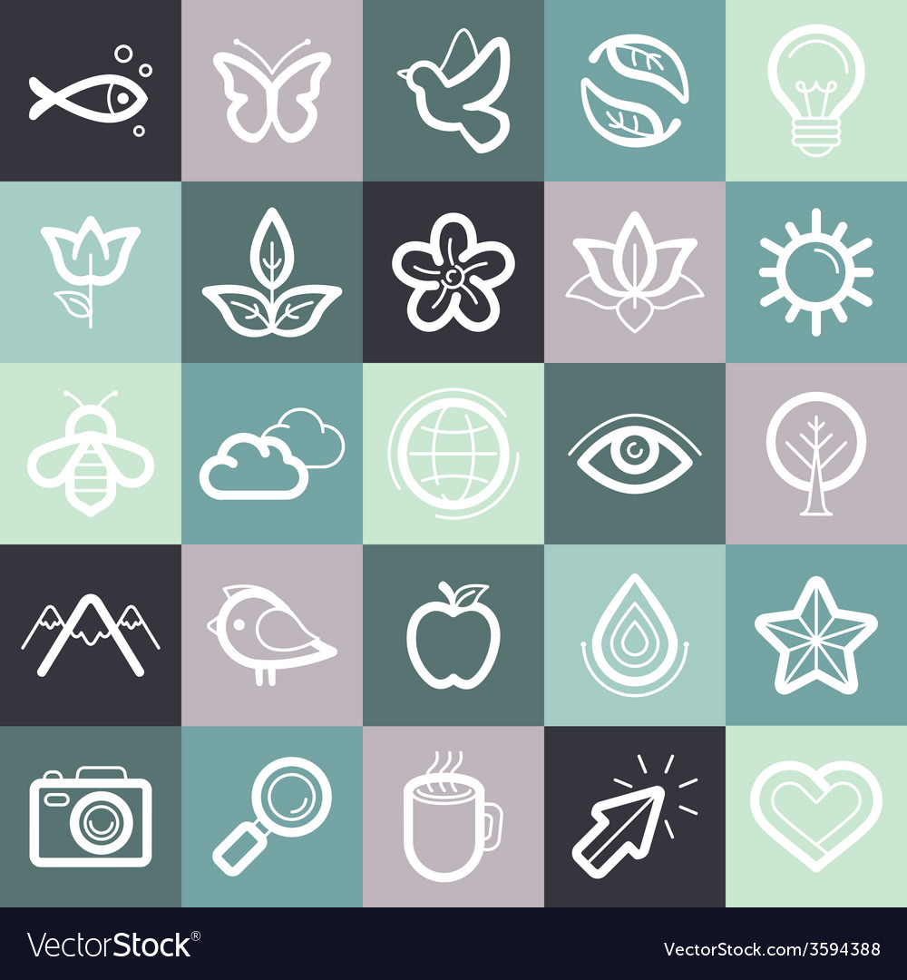 Set of design elements and symbols vector | Price: 1 Credit (USD $1)
