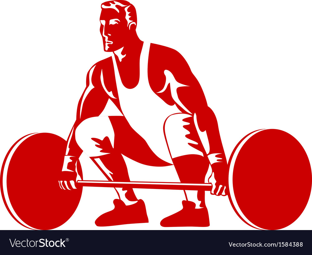 Weightlifter preparing to lift weights vector | Price: 1 Credit (USD $1)